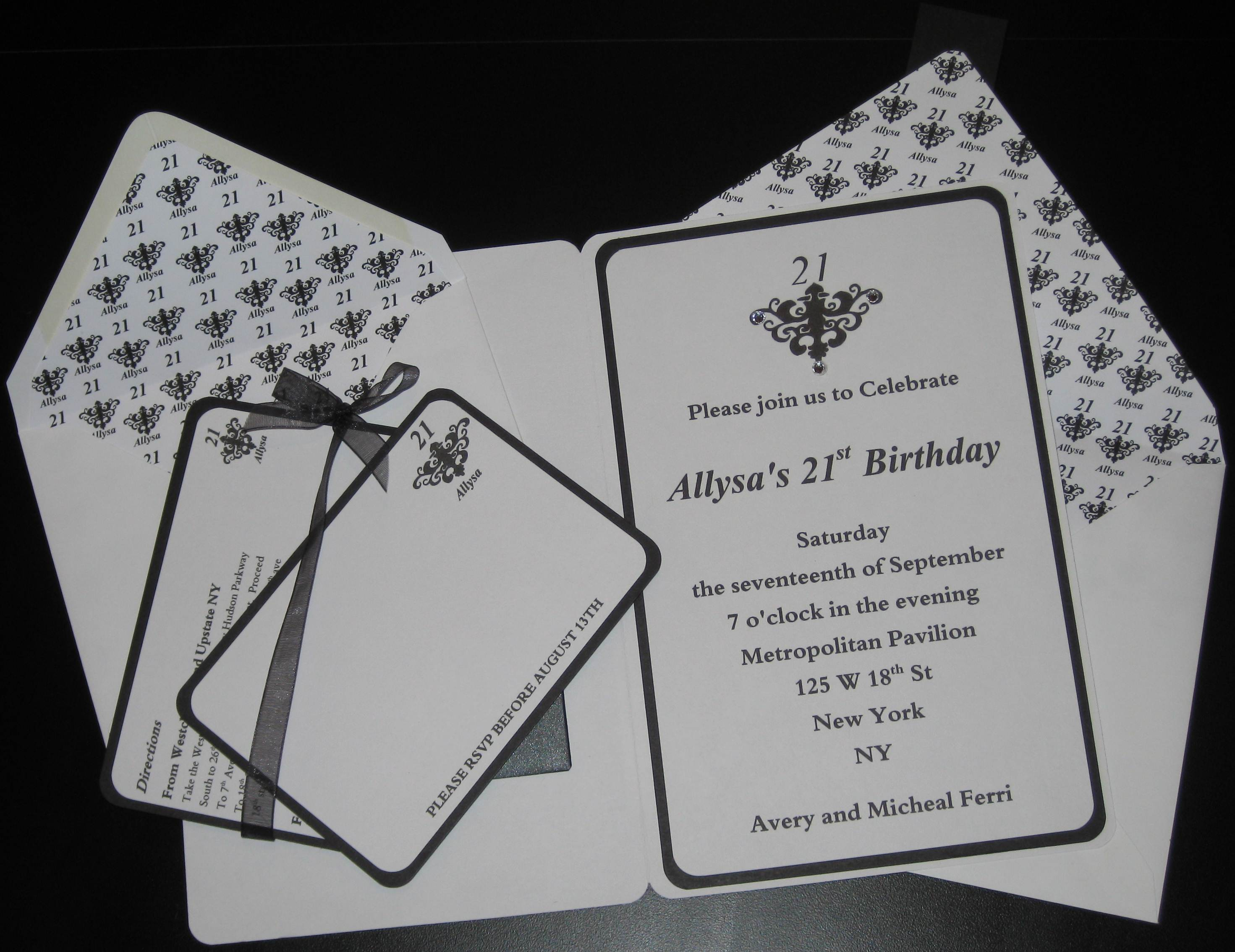 21st birthday invite