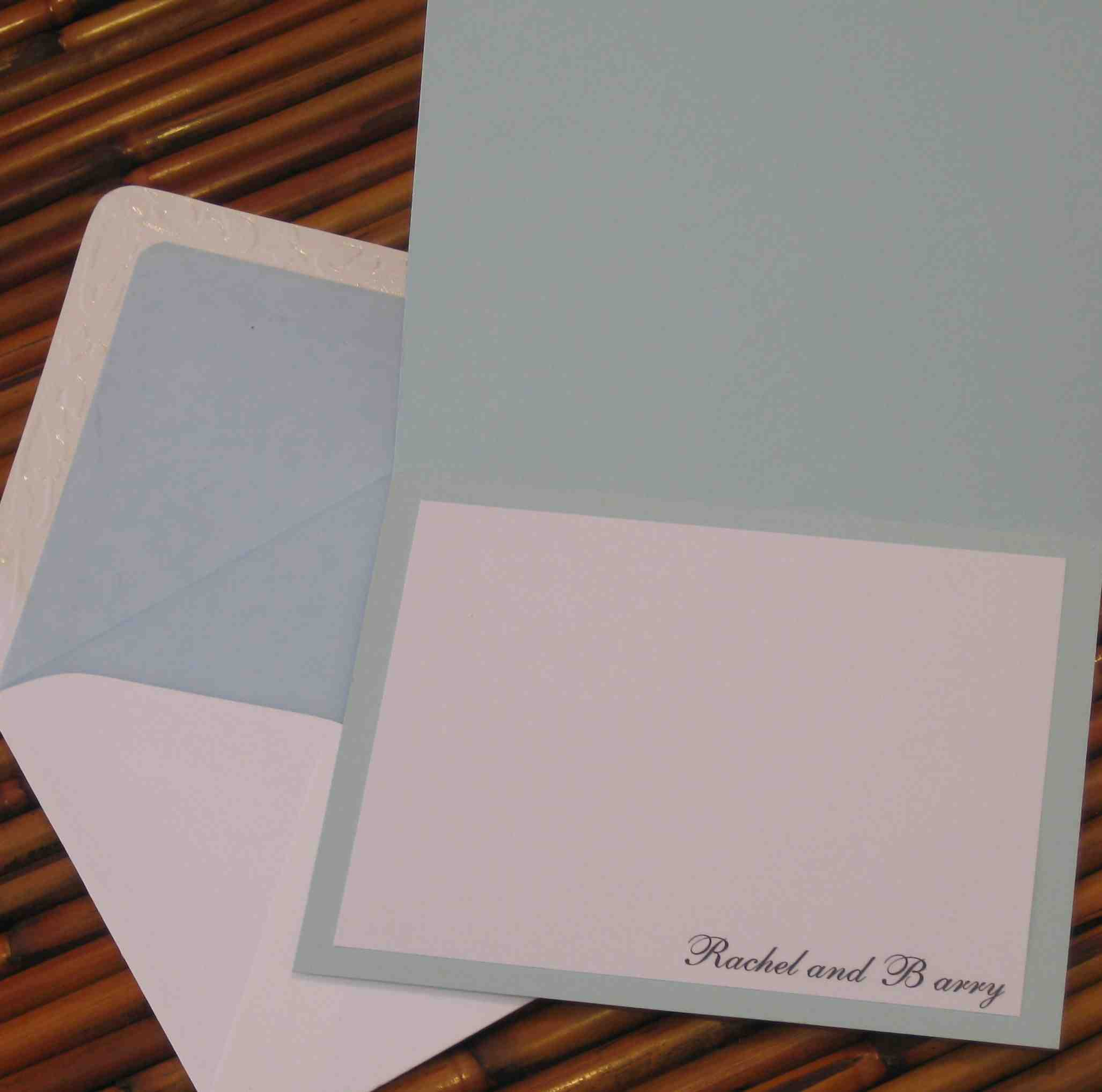 Tent fold thank you card
